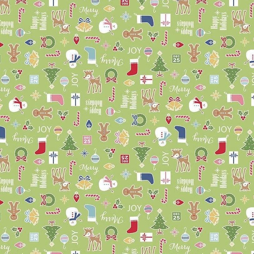 Flannel Prints : Cozy Christmas - Main (Green)