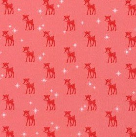 Flannel Prints : Cozy Christmas - Reindeer (Pink)