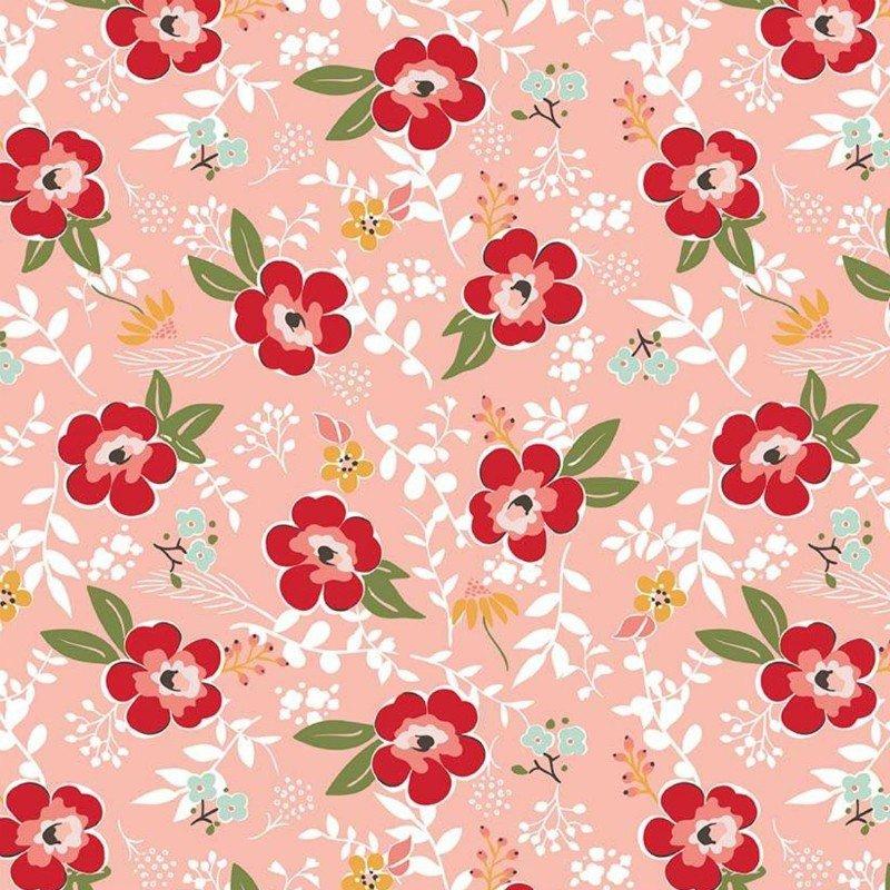 Flannel Prints : Sweet Prairie - Main (Coral)
