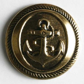 Button : Anchor with Shank - 14mm