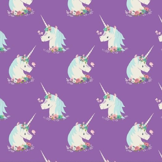 Flannel Prints : I Believe in Unicorns - Unicorn (Orchid)