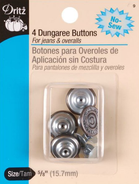 Jeans / Dungaree Buttons - 5/8