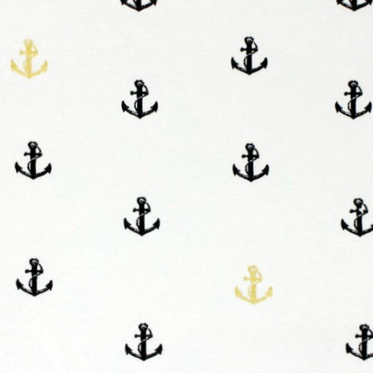 Organic Knits : Little Anchor - Metallic
