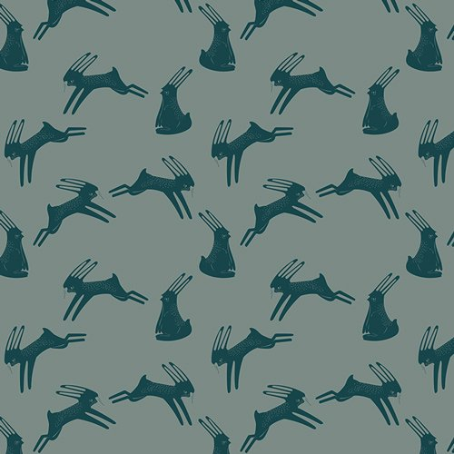 Knits : Hopping Hare (Spruce)