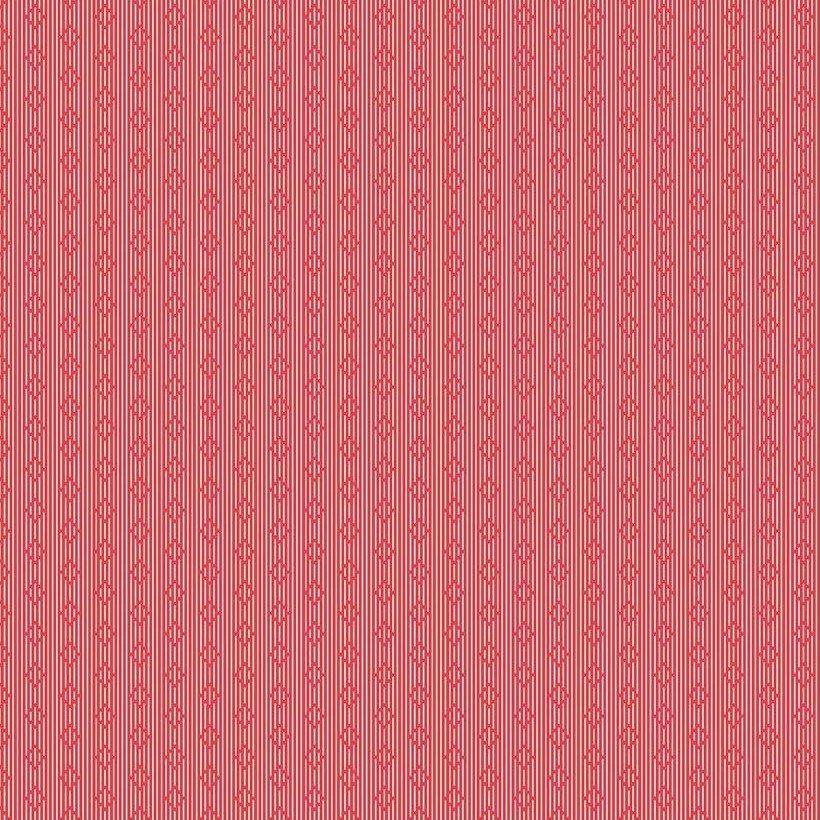 Lawn Print : Linen & Lawn LW6345 - Red