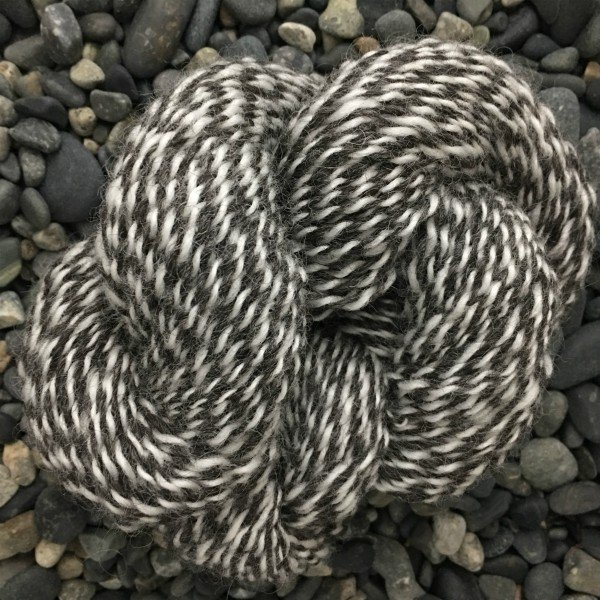 Mucklemarl : Light Worsted - Charcoal & White