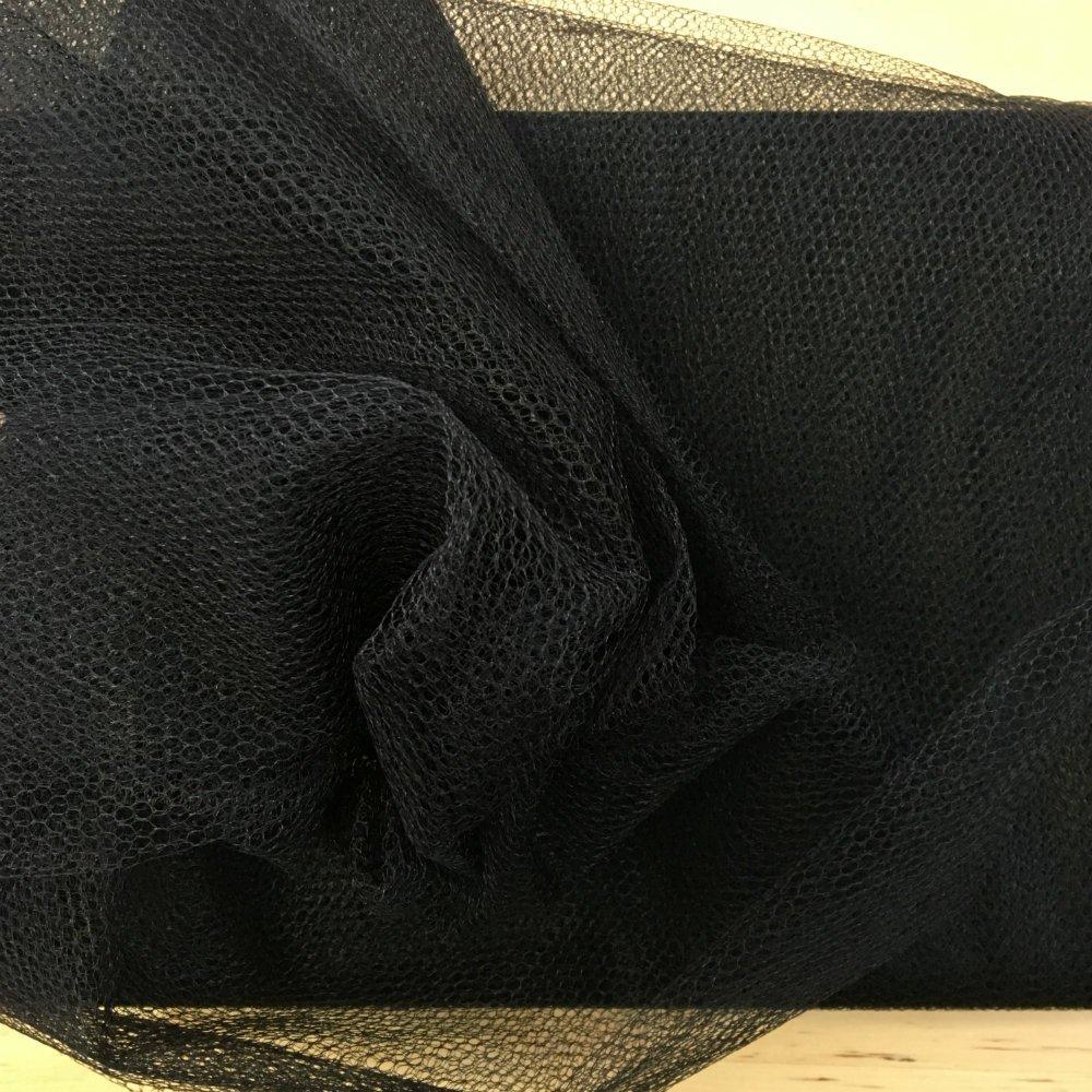 Tulle : Nylon Net - Black