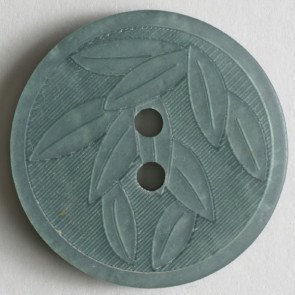 Button : Bamboo Leaves 2 Hole - 23mm