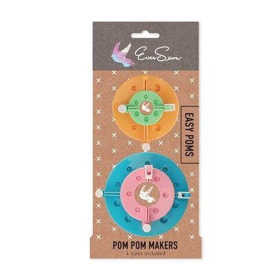 Pom Pom Maker : 4-Piece Tool Set