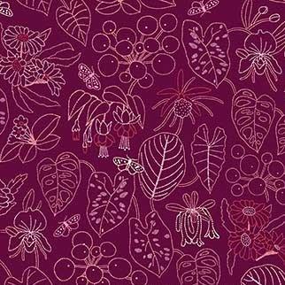 Rayon Prints :  Glasshouse R90190-80
