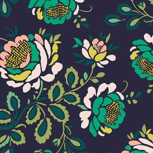 Rayon Prints : Stenciled Petals - Floralia