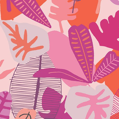 Rayon Prints : Jungle Radiant (Pink)
