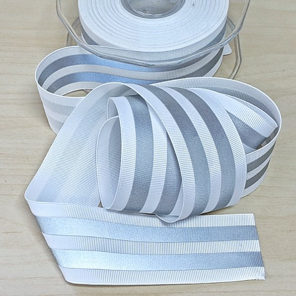 Reflective Ribbon : Grosgain - 40mm (1.5)