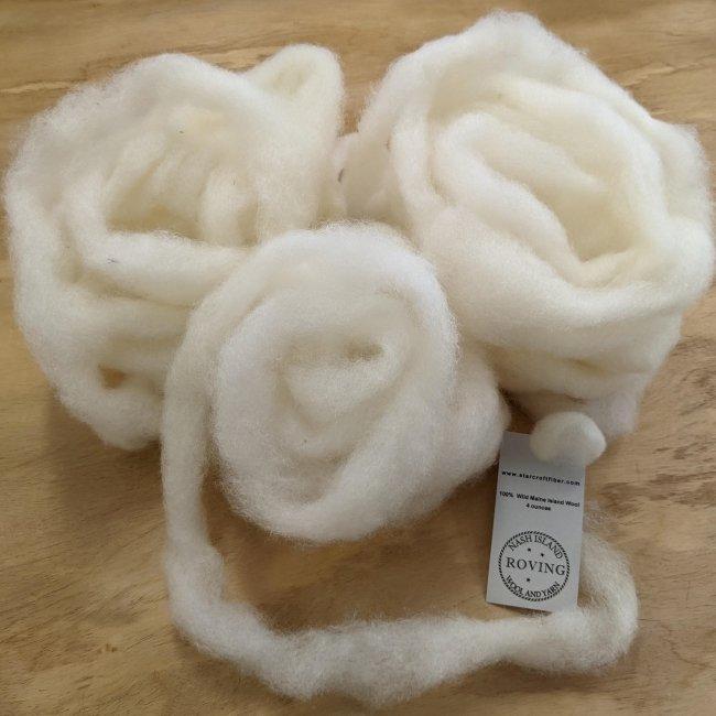 Roving : Nash Island Wool - 4oz