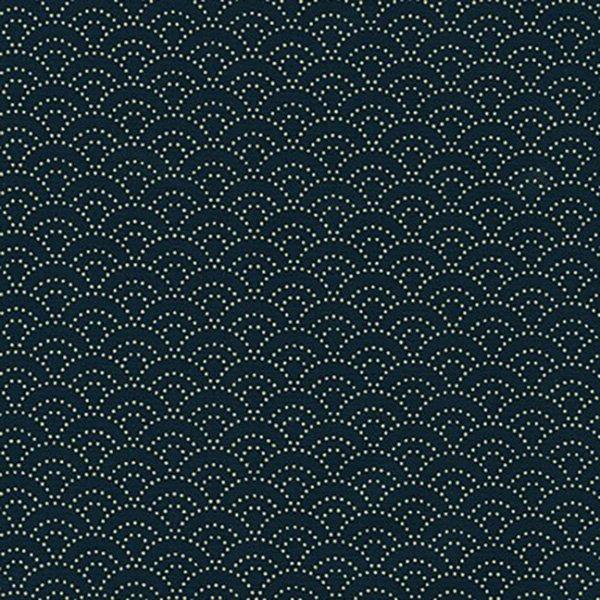 QC Novelty : Kasuri Waves - Navy