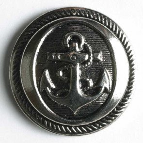 Button : Anchor with Shank - 21mm