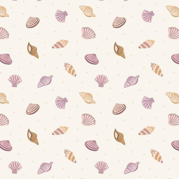 QC : Small Things by the Sea - Shells (Cream)