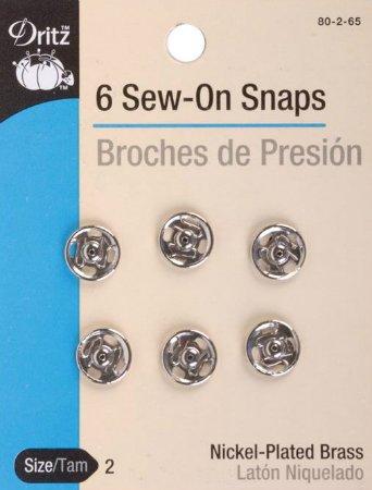 Snaps : Sew-On Medium - #2