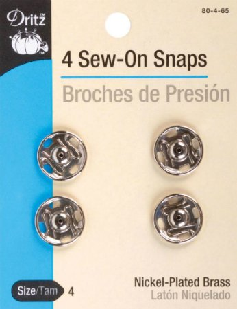 Snaps : Sew-On Large - #4