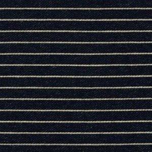 French Terry Stripes - Indigo