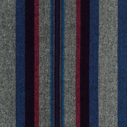Flannel : Taos Stripes - 118876 (Pimento)