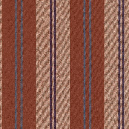 Flannel : Taos Stripes - 18878 (Rust)