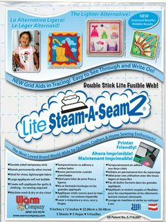 Lite Steam-A-Seam 2 : Pkg (five 9x12)