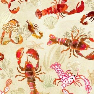 Poplin : High Seas - Lobsters (Multi)
