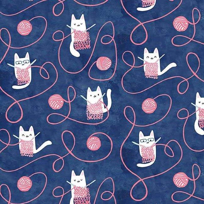 QC : Creative Cats - Kitty Knitting (Multi)