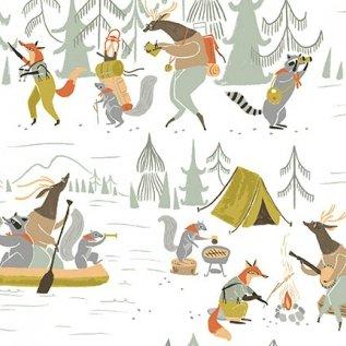 Poplin : Camp Wander - Camp Wander (White)