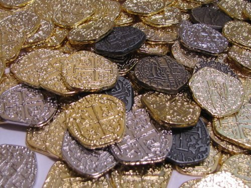 Pirate Coins - Metal Gold Silver Doubloon Replicas
