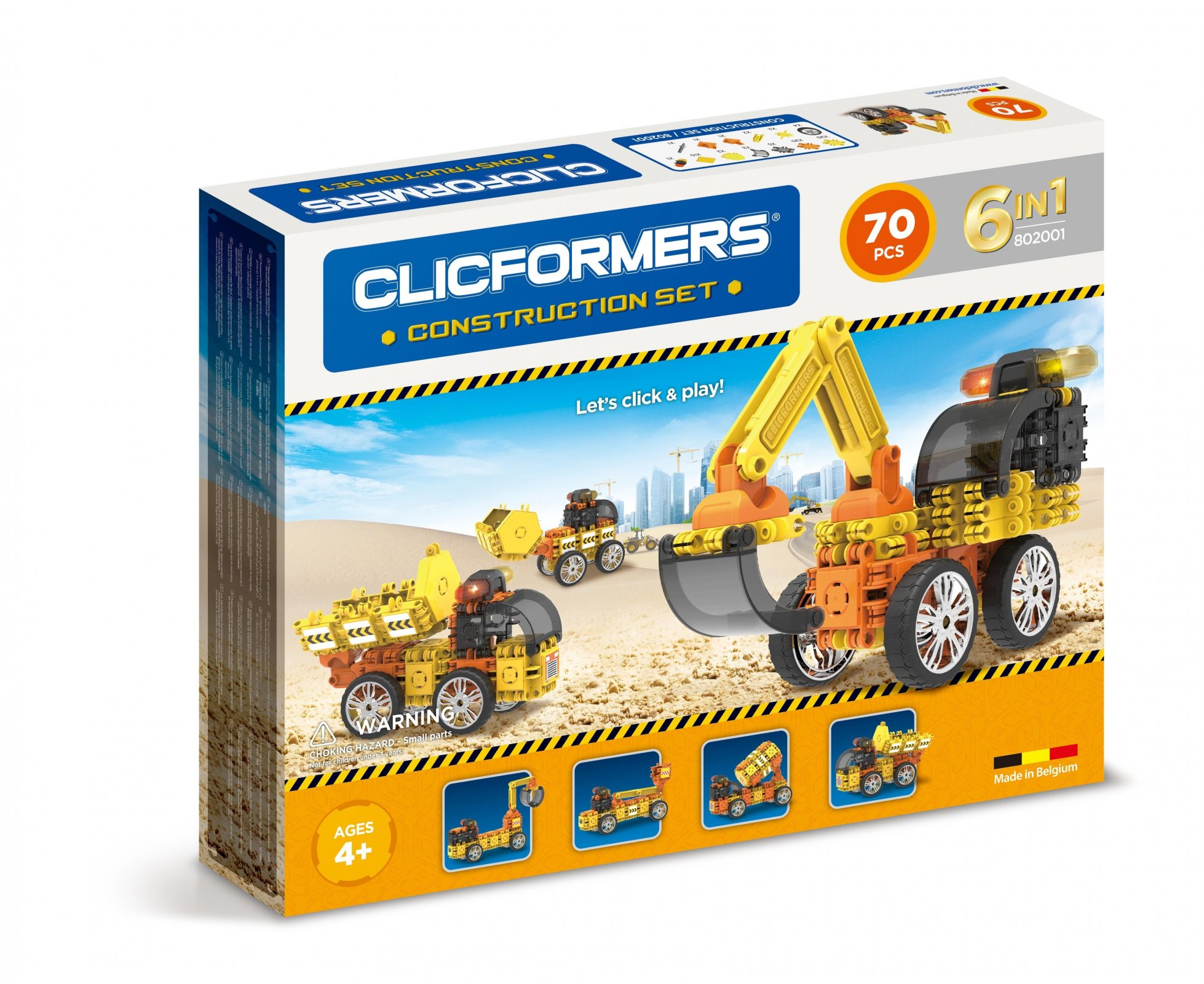 CLICFORMERS Construction 74 PCS