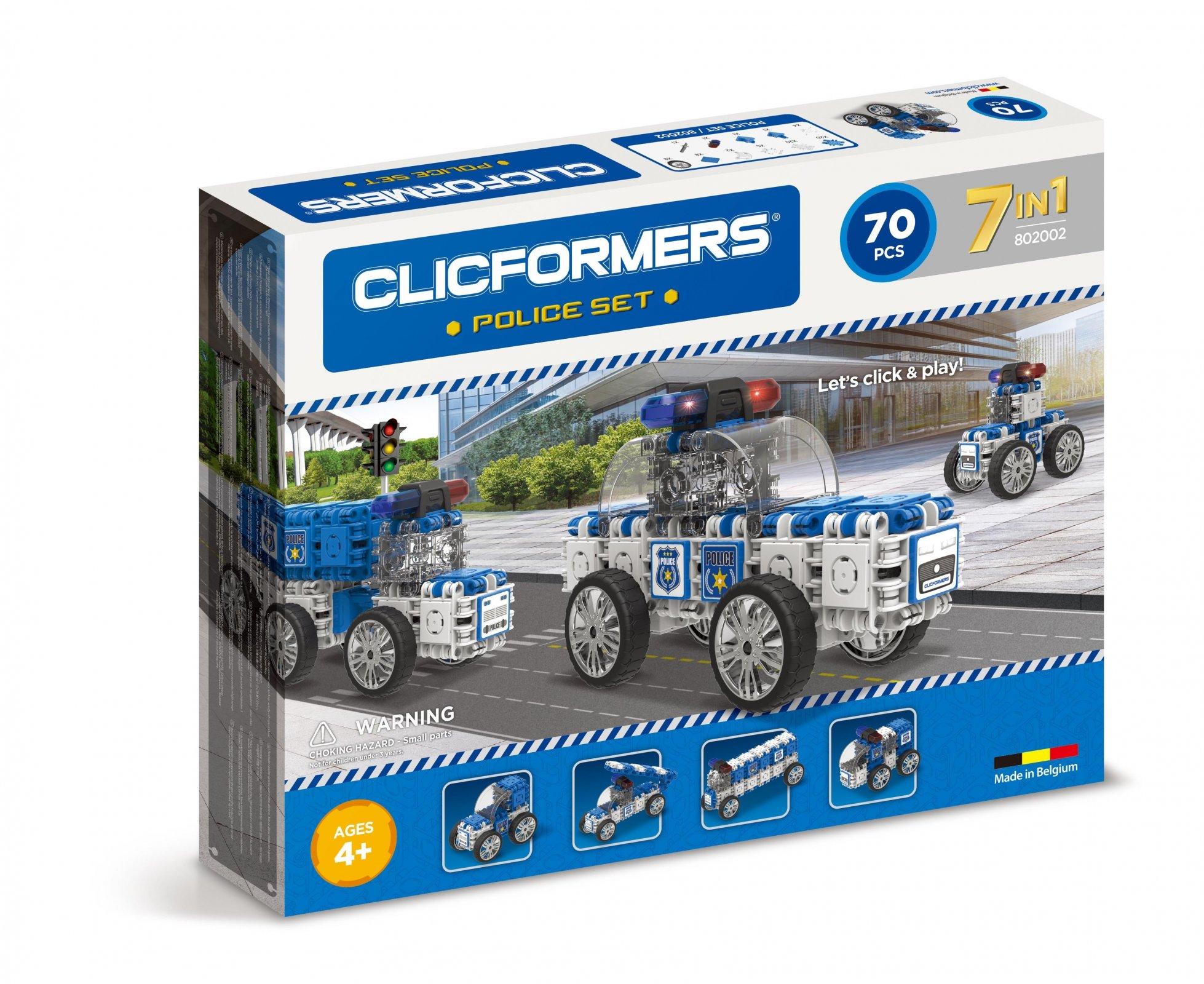 CLICFORMERS Police Set 72 PCS