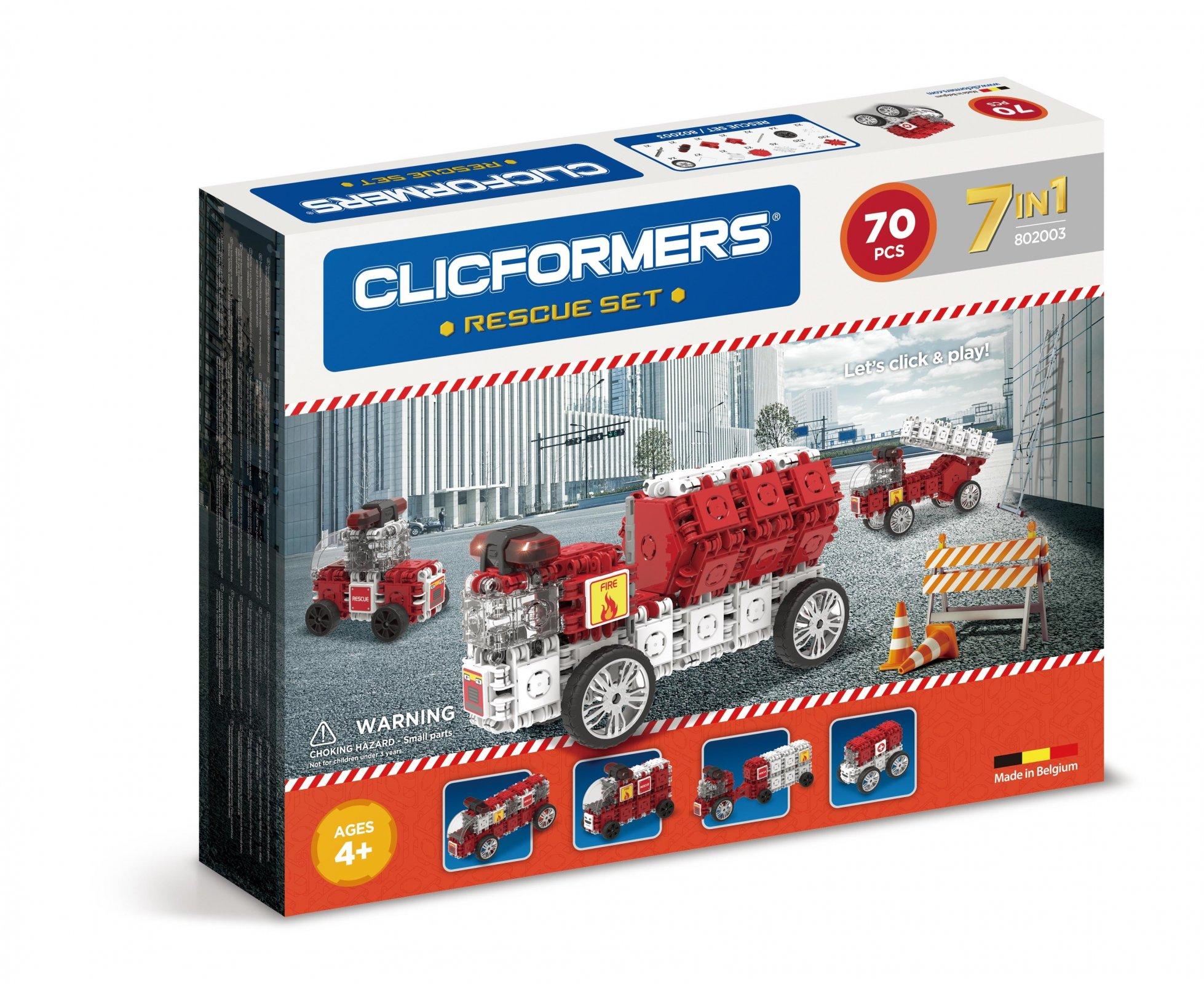 CLICFORMERS Rescue Set 73 PCS