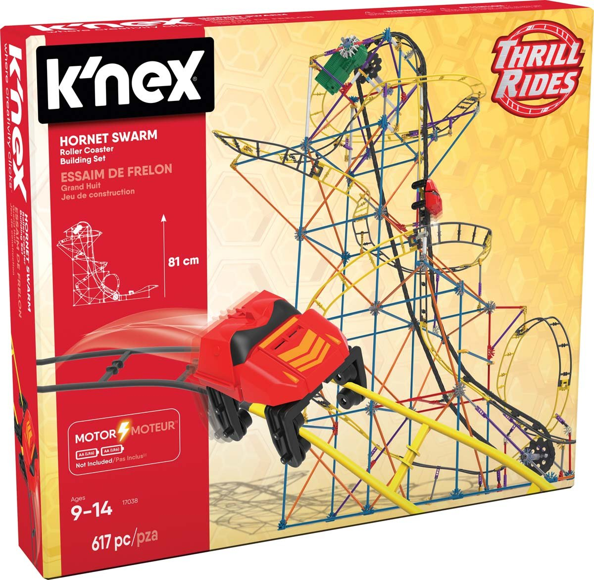 K Nex Thrill Rides Hornet Swarm Roller Coaster Building Set 744476170385