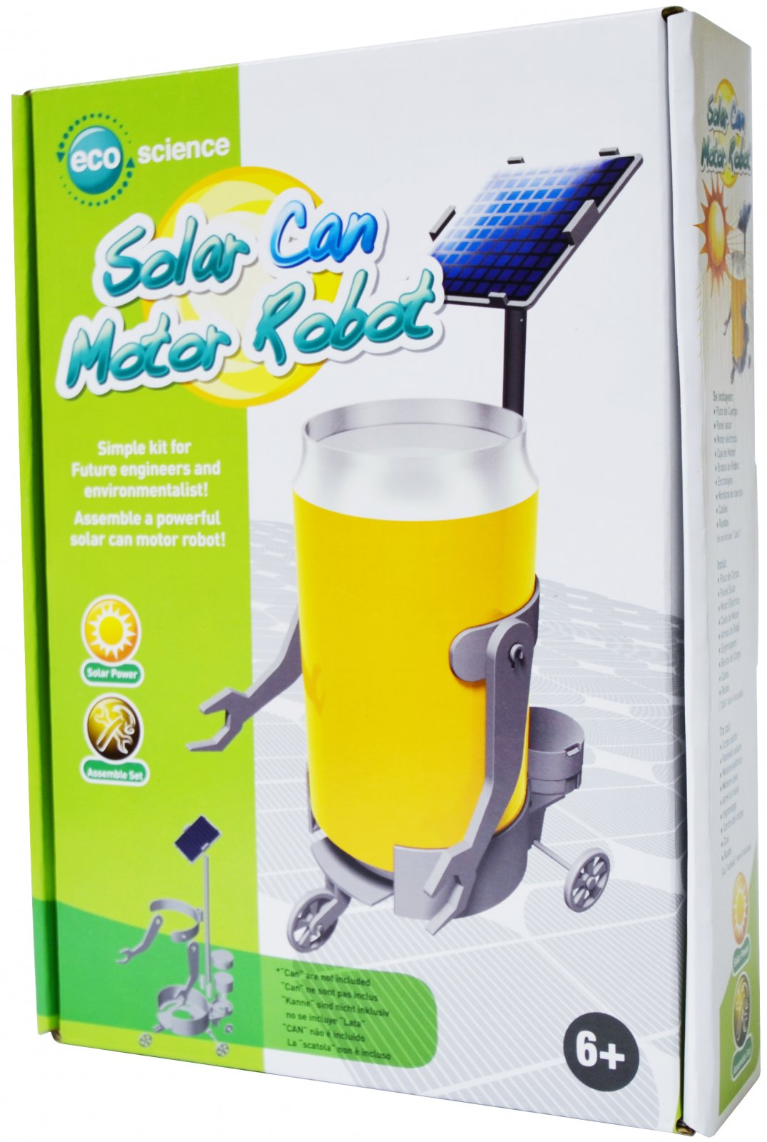 Solar Can Motor Robot