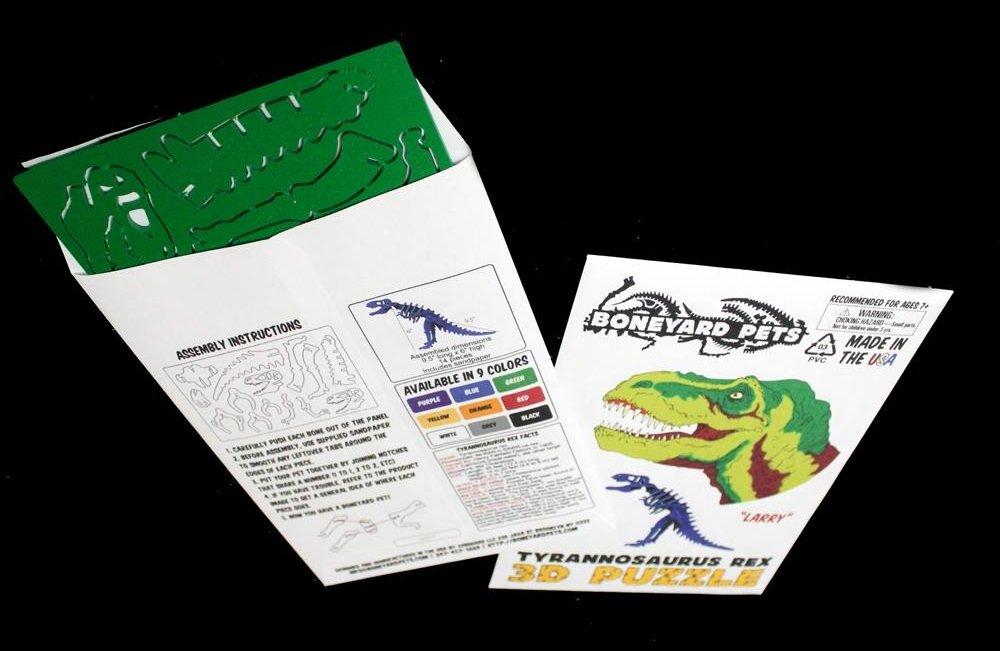 MINIATURE! 3D Dinosaur Puzzle - Tyrannosaurus rex - Komatex PVC