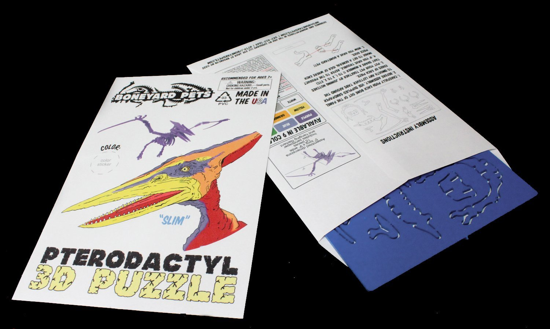 MINIATURE! 3D Dinosaur Puzzle - Pterodactyl - Komatex PVC