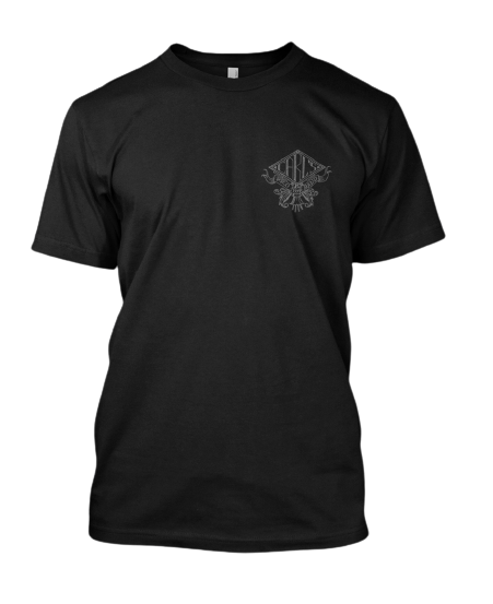 CPB Pup Face Engraving Black T-Shirt