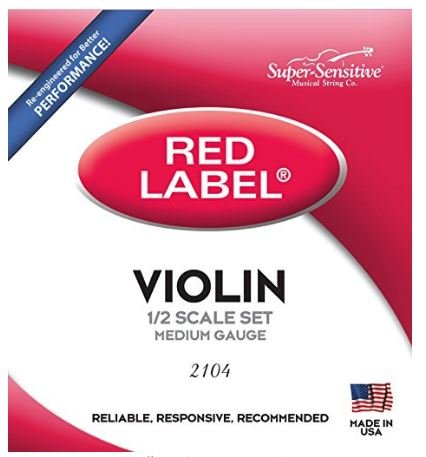 Red Label Violin String Set