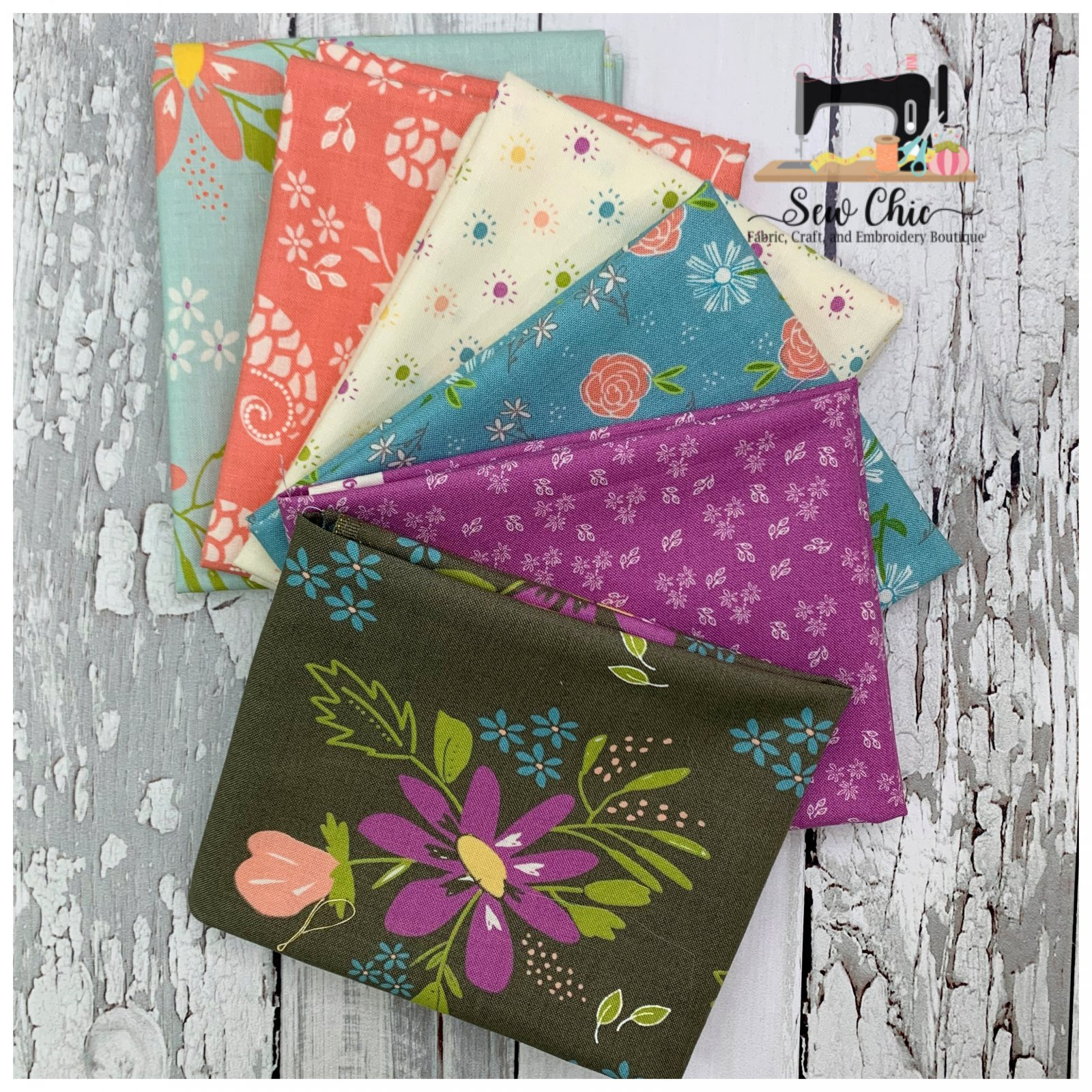 Balboa Mini Fat Quarter Bundle 6 Fabrics
