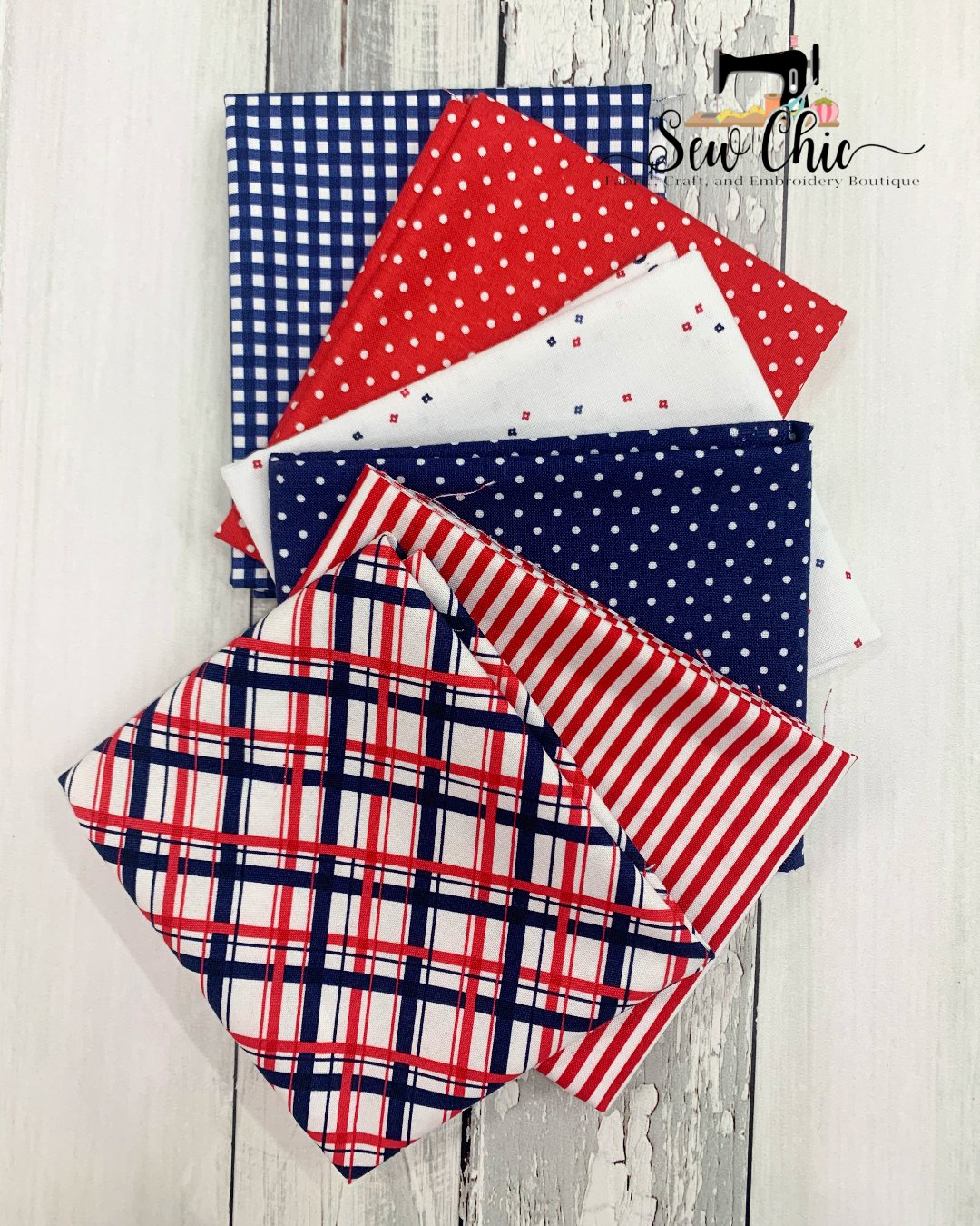 Red white and blue FQ bundle