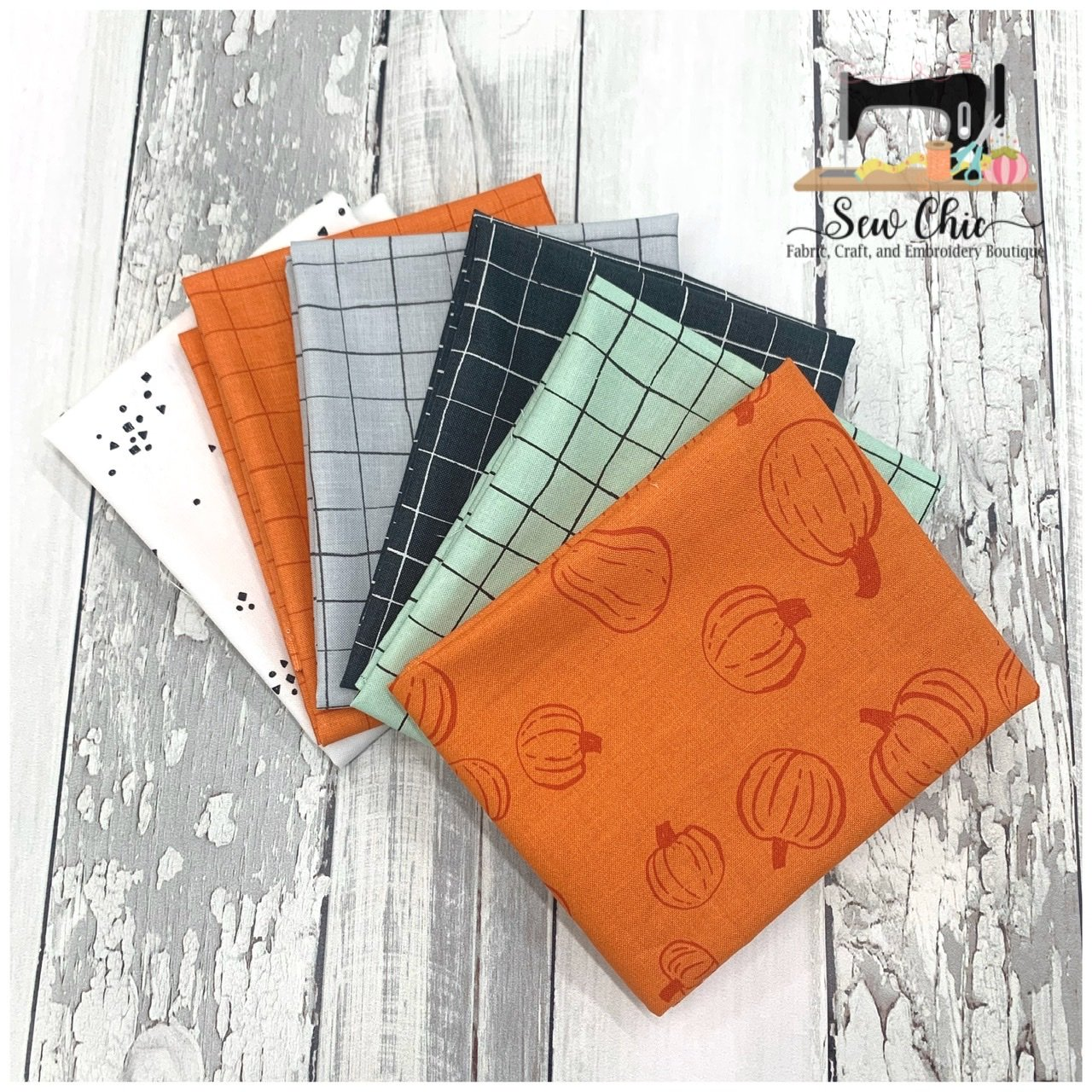 Scaredy Cat Fat Quarter Bundle 6 Fat Quarters