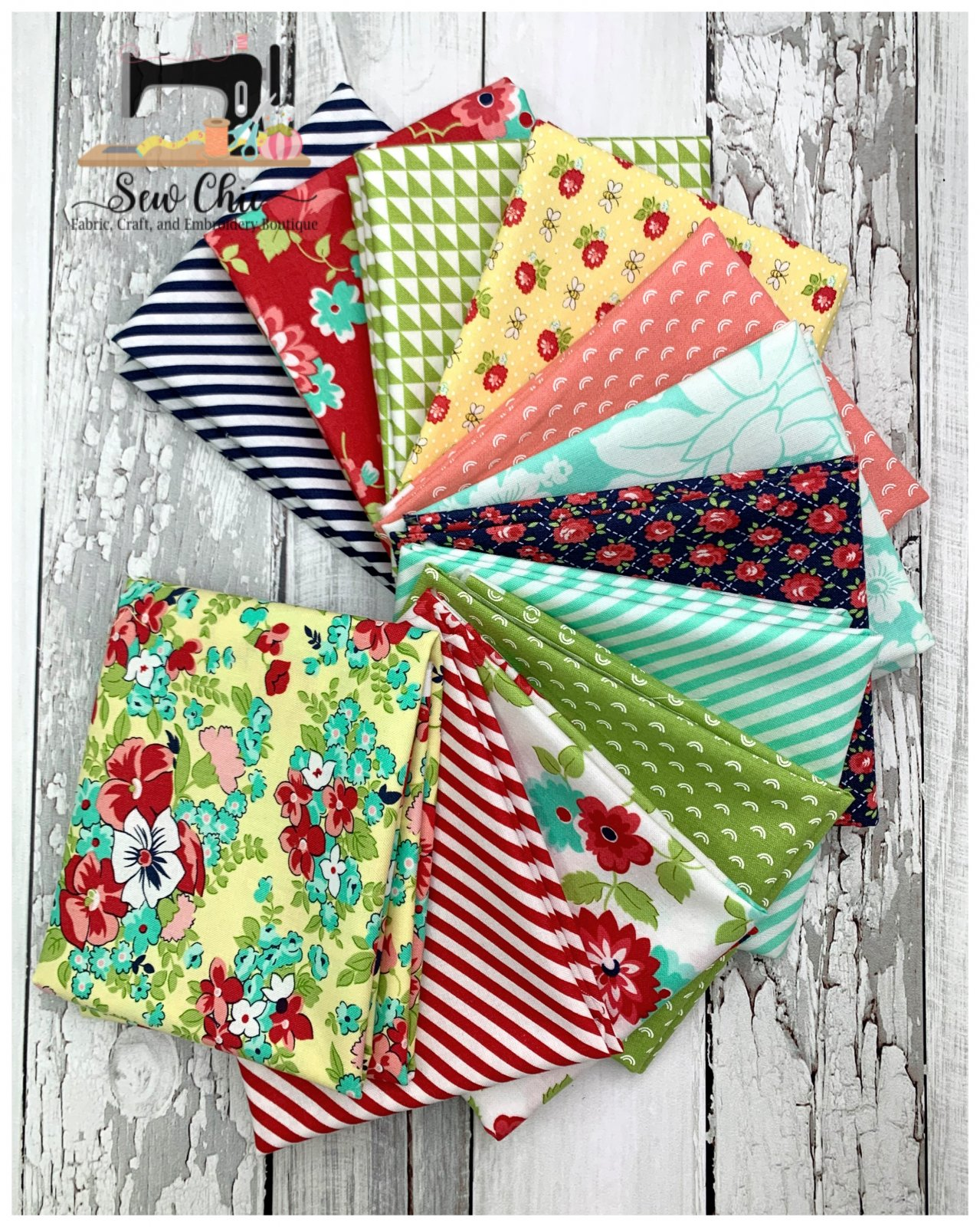 Shine On Mini Fat Quarter Bundle 12 Fabrics