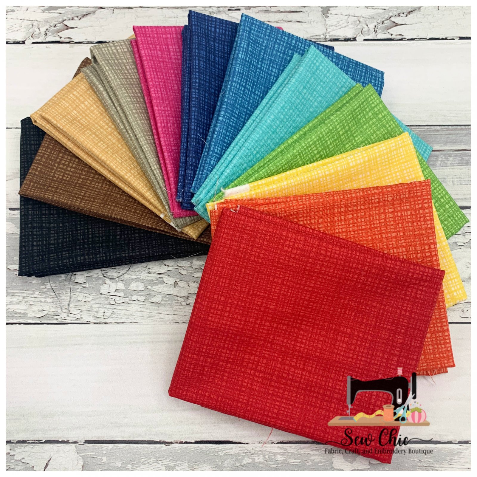 Rainbow of Textures 12 Fat Quarter Bundle
