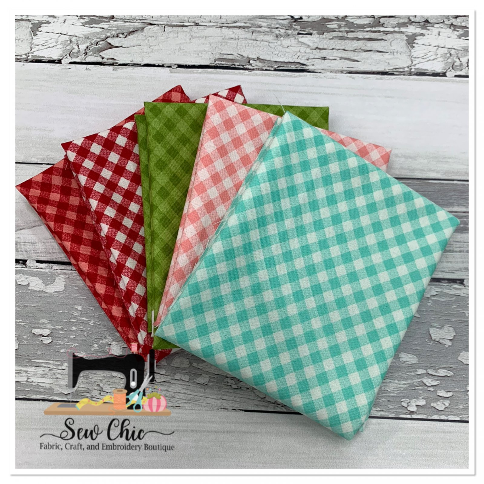 Little Snippets Check Fat Quarter Bundle