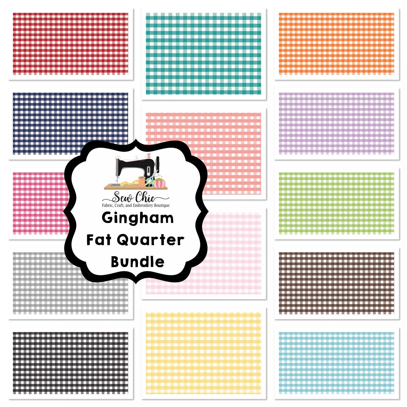 gingham all fat quarter bundle