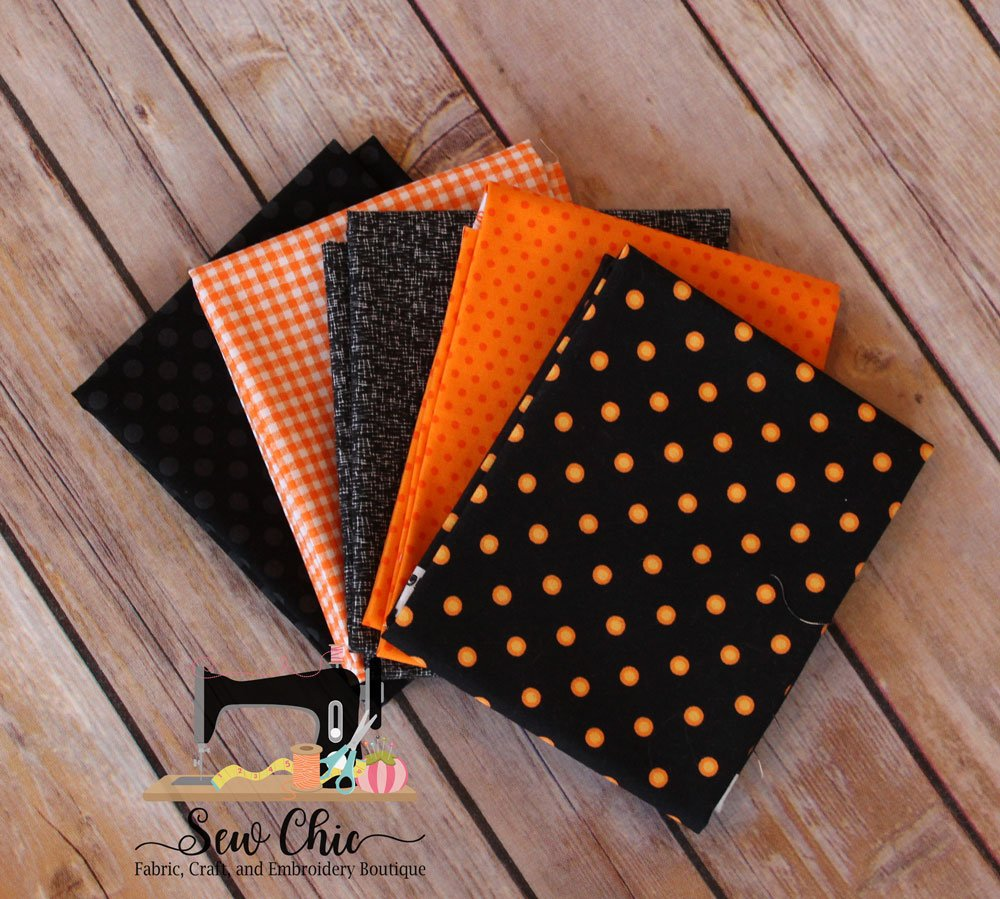 Orange and Black BOO! Fat Quarter Bundle