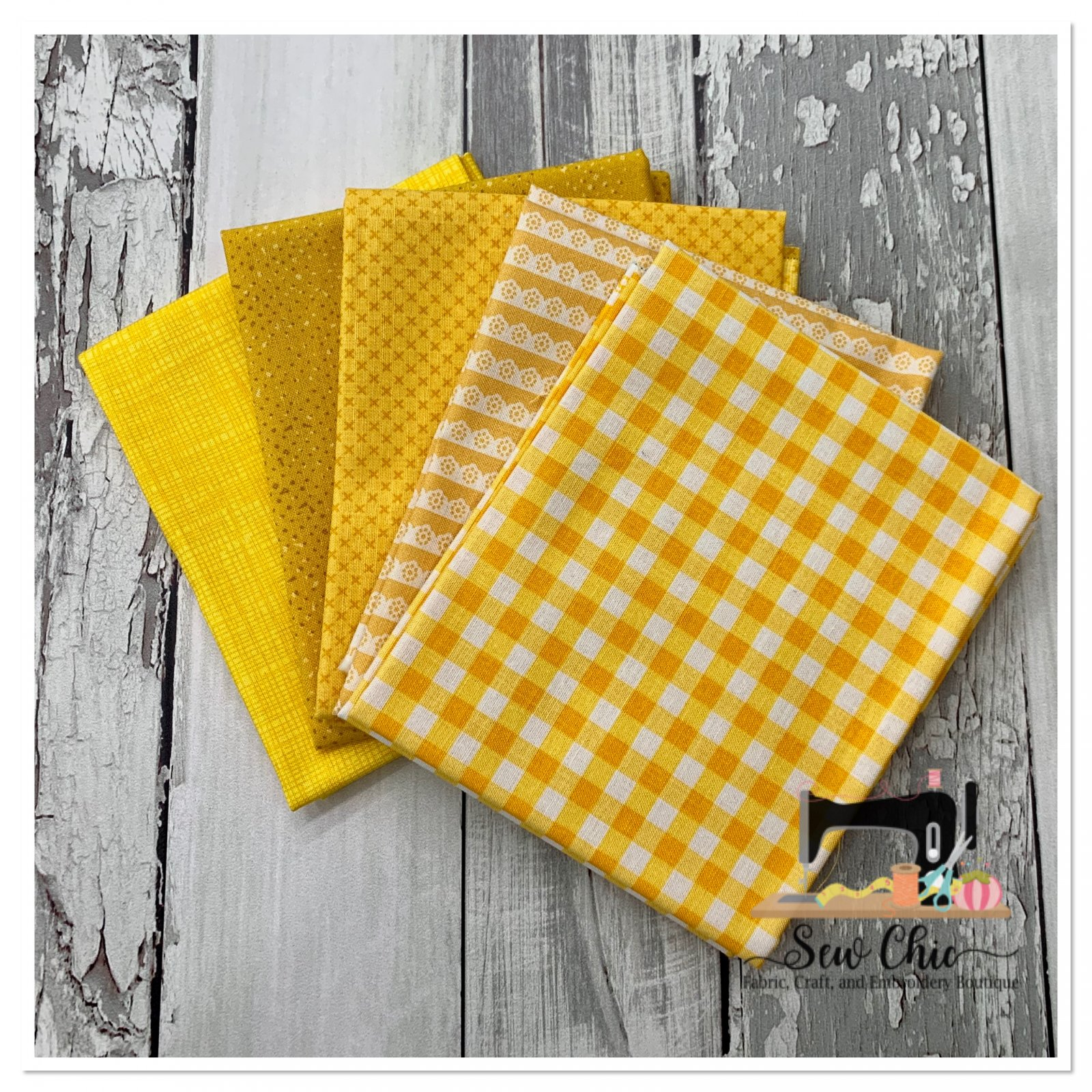 Need a Little Yellow Fat Quarter Bundle