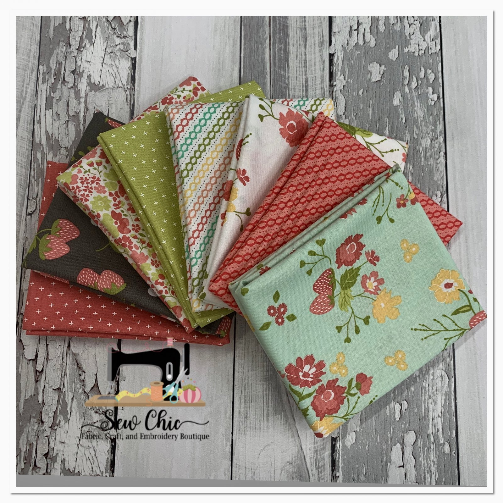 Strawberry Jam Fat Quarter Bundle